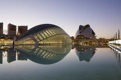 Cidade da ciência e das artes, Valência Fotografia de Stock Royalty Free