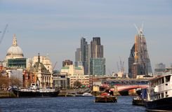 Cidade da construção de Londres Fotografia de Stock Royalty Free