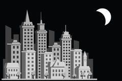 Cidade da construção dos desenhos animados Fotos de Stock