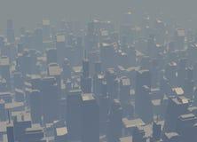 Cidade da contaminação ilustração do vetor