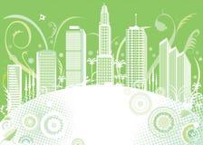 Cidade da cor verde Fotografia de Stock Royalty Free