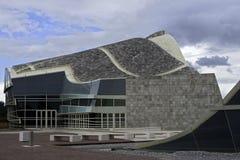 Cidade da cultura em Galiza Fotos de Stock Royalty Free