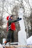 Cidade da escultura de gelo em Moscovo, Rússia Imagens de Stock Royalty Free