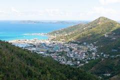 Cidade da estrada, Tortola fotografia de stock royalty free