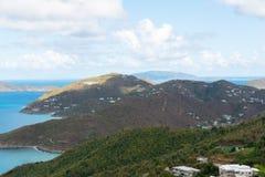 Cidade da estrada, Tortola foto de stock