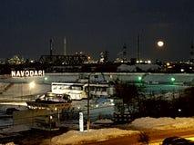 Cidade da gasolina de Rafinery Foto de Stock