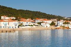 A cidade da ilha de Spetses, Grécia Foto de Stock Royalty Free