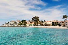 A cidade da ilha de Spetses, Grécia Imagem de Stock Royalty Free
