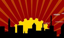Cidade da indústria Ilustração do Vetor