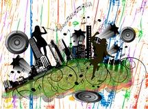 Cidade da música Fotografia de Stock Royalty Free