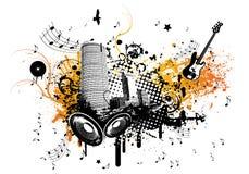 Cidade da música do verão Ilustração do Vetor