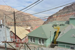 Cidade da mineração de Ghost de Sewell, o Chile fotografia de stock royalty free