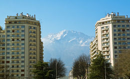 Cidade da montanha Fotos de Stock Royalty Free