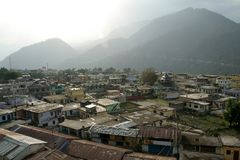 Cidade da montanha Imagens de Stock Royalty Free
