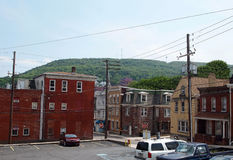 Cidade da montanha de Pottsville Pensilvânia Fotos de Stock