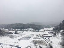 Cidade da neve Foto de Stock Royalty Free