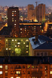 Cidade da noite Fotografia de Stock