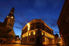 Cidade da noite Imagens de Stock