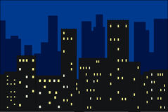 Cidade da noite ilustração do vetor