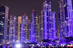 Cidade da noite Fotografia de Stock Royalty Free
