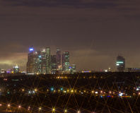 Cidade da noite da noite Moscou Fotos de Stock Royalty Free