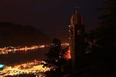 Cidade da noite da paisagem Imagens de Stock