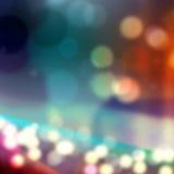 A cidade da noite, efeito borrou o fundo Luzes, destaques Imagens de Stock