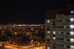 Cidade da noite em outubro imagem de stock
