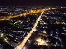Cidade da noite em Tailândia Fotos de Stock Royalty Free