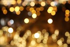A cidade da noite ilumina o fundo do bokeh Fotos de Stock Royalty Free
