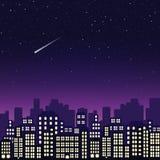 Cidade da noite Ilustração do vetor Foto de Stock