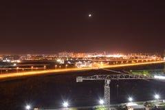 Cidade da noite, Krasnodar, estrada, romance, caminhada Fotografia de Stock Royalty Free