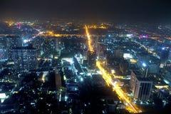 Cidade da noite, vista superior, Banguecoque Imagens de Stock