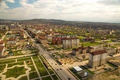 Cidade da opinião de Grozny de cima de Imagem de Stock Royalty Free