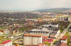 Cidade da opinião de Grozny de cima de Foto de Stock Royalty Free