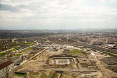 Cidade da opinião de Grozny de cima de Imagens de Stock Royalty Free