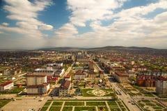 Cidade da opinião de Grozny de cima de Fotos de Stock Royalty Free
