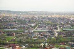 Cidade da opinião de Grozny de cima de Fotografia de Stock Royalty Free