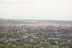 Cidade da opinião de Grozny de cima de Fotos de Stock