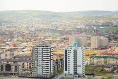 Cidade da opinião de Grozny de cima de Imagem de Stock