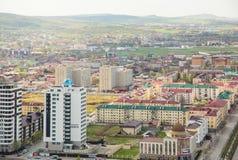 Cidade da opinião de Grozny de cima de Fotografia de Stock