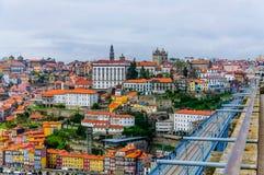 Cidade da opinião superior de Porto fotos de stock