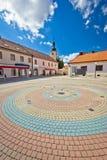 Cidade da opinião vertical quadrada de Ludbreg Fotos de Stock Royalty Free