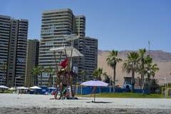 Cidade da praia de Iquique e de Cavancha Ao norte do Chile Foto de Stock Royalty Free