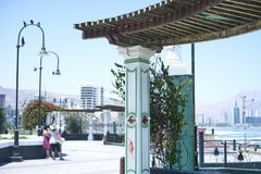 Cidade da praia de Iquique e de Cavancha Ao norte do Chile Imagem de Stock Royalty Free