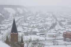 A cidade da região de Tobolsk Tyumen Fotografia de Stock