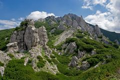 Cidade da rocha em Tatras ocidental Imagem de Stock