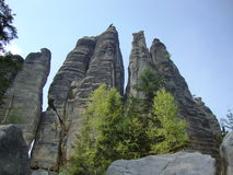 Cidade da rocha nas montanhas de Adrspach Imagem de Stock