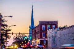 Cidade da rosa do branco de York South Carolina fotografia de stock royalty free