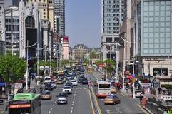 Cidade da rua de Harbin China fotos de stock royalty free